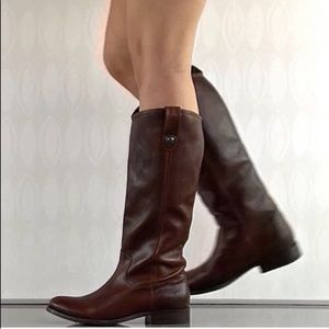 FRYE Melissa Leather Knee High Riding Boots